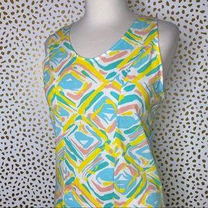 Lauren James abstract print cotton dress